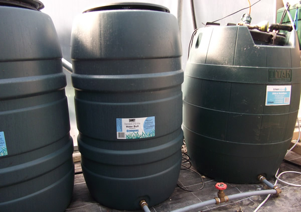 Nutrient storage in water butts